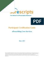 Surescripts Certification Guide - 2013