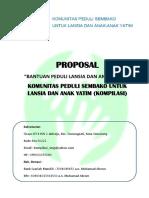 Proposal Permohonan Bantuan Donasi Untuk Lansia Dan Anak Yatim - Komunitas Kompilasi