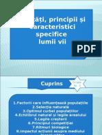 Legități, principii și  caracteristici specifice  lumii vii
