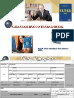 CURSO DE EXTENSÃO - CÁLCULOS TRABALHISTAS.2009.ppt