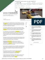 Así Avanzan Las Protestas de Los Taxistas en Colombia - ELTIEMPO (29!07!2015)