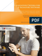 TEC Analyst Report Key Evaluation Criteria for E Signature Software 1