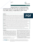 Effect of Miscarriage History on Maternal Infant Bonding During the First Year Postpartum in the First Baby Study a Longitudinal Cohort Study