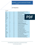 Liste Adjektive Mit Präposition