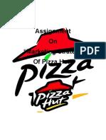 Hard Copy of Pizza Hut Presentation