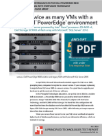 SQL Server 2016 database performance on the Dell PowerEdge R830 QLogic 16G Fibre Channel with StorFusion Technology with Dell Storage SC9000 all-flash array