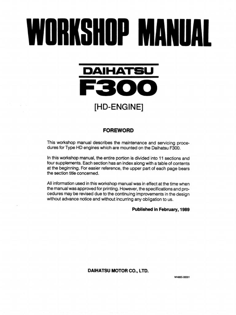 Daihatsu F300 Wiring Diagram   Wiring Diagram on