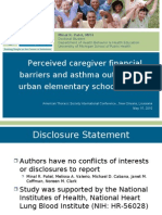 Perceived Caregiver Financial Barriers and Asthma Outcomes in Urban Elementary School Children