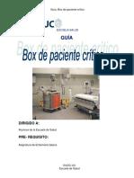 Box Paciente Crítico