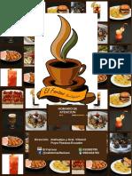 Menu El Fariseo Bar-Cafetería