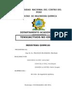 Formulas Tensoactivo No Ionico