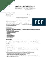 Bicarbonato de Sodio 8.4