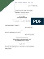 United States v. Ronald DeAndrea Solomon, 11th Cir. (2015)