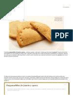 Empanadillas de Jamón y Queso Jugosas, Sabrosas y Crujientes