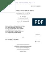 Iliana Guadalupe Alonzo-Rivera v. U.S. Attorney General, 11th Cir. (2016)