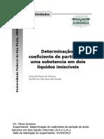 Determinação do Coeficiente de Partição de uma Substancia em dois Líquidos Imiscíveis.pdf