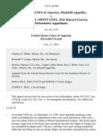 United States v. Antonio Vigil-Montanel, Elio Bacaro-Garcia, 753 F.2d 996, 11th Cir. (1985)