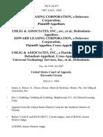 Edward Leasing Corporation, a Delaware Corporation v. Uhlig & Associates, Inc., Etc., Edward Leasing Corporation, a Delaware Corporation, Cross-Appellant v. Uhlig & Associates, Inc., a Florida Corporation, Cross-Appellee, Universal Technology Services, Inc., 785 F.2d 877, 11th Cir. (1986)