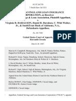 Federal Savings and Loan Insurance Corporation, as Receiver for Savannah Savings & Loan Association v. Virginia B. Haralson, Daniel B. Haralson, C. Whit Walter, Jr., & Southtrust Bank of Alabama, N.A., 813 F.2d 370, 11th Cir. (1987)