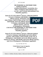 Council for Periodical Distributors Associations International Periodical Distributors Association, Inc. Martin E. McCaffery Penthouse International, Ltd. Playboy Enterprises, Inc. And Newlook International, Ltd. v. James H. Evans, District Attorney, Fifteenth Judicial Circuit of Alabama, Individually and in His Official Capacity, John Wilson, Chief of Police of the City of Montgomery, Individually and in His Official Capacity Thomas O. Kotouc, Individually and in His Official Capacity and City of Montgomery, Council for Periodical Distributors Association v. James H. Evans, District Attorney, Fifteenth Judicial Circuit of Alabama, Individually and in His Official Capacity John Wilson, Chief of Police of the City of Montgomery, Individually and in His Official Capacity Thomas O. Kotouc, Individually and in His Official Capacity and City of Montgomery, 827 F.2d 1483, 11th Cir. (1987)