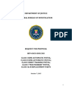 RFP Format FBI Solicitation