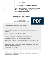 United States v. Johnny Lee Hansley, A/K/A Johnnie Lee Hansley, Glenn Hansley, Ray Bennett, Bobby Riley, Earl Jackson, 54 F.3d 709, 11th Cir. (1995)