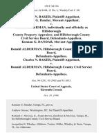 Charles N. Baker, Kennan G. Dandar, Movant-Appellant v. Ronald Alderman, Individually and Officially as Hillsborough County Property Appraiser, and Hillsborough County Civil Service Board, Kennan G. Dandar, Movant-Appellant v. Ronald Alderman, Hillsborough County Civil Service Board, Charles N. Baker v. Ronald Alderman, Hillsborough County Civil Service Board, 158 F.3d 516, 11th Cir. (1998)
