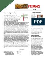 2016 february newsletter