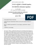 United States v. Byron Keith Thomas, 242 F.3d 1028, 11th Cir. (2001)