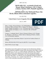 Phoenix of Broward, Inc. v. McDonald's Corp., 489 F.3d 1156, 11th Cir. (2007)