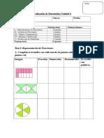 Evaluación de Matemática Unidad 6