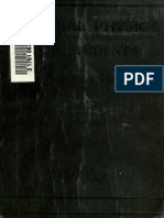 Edser General Physics for Students, A Textbook of the Fundamental Properties of Matter (1911)