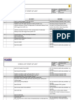 6.Formulir Check List Start Up Unit (Sudah Diisi)