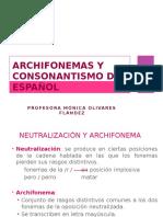 Archifonemas del Español