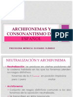 Archifonemas Del Espanol Slides