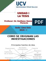 Unidad I. La Tesis - UCV