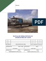 Manual de Operacion de Los Generadores de Vapor
