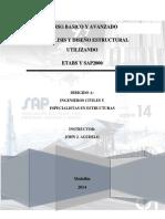 Contenido Curso Basico y Avanzado de ETABS y SAP2000 V1