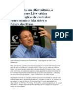 Pierre Levy e a Cibercultura