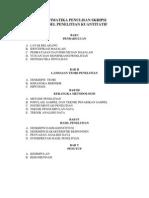 Sistematika Penulisan Skripsi