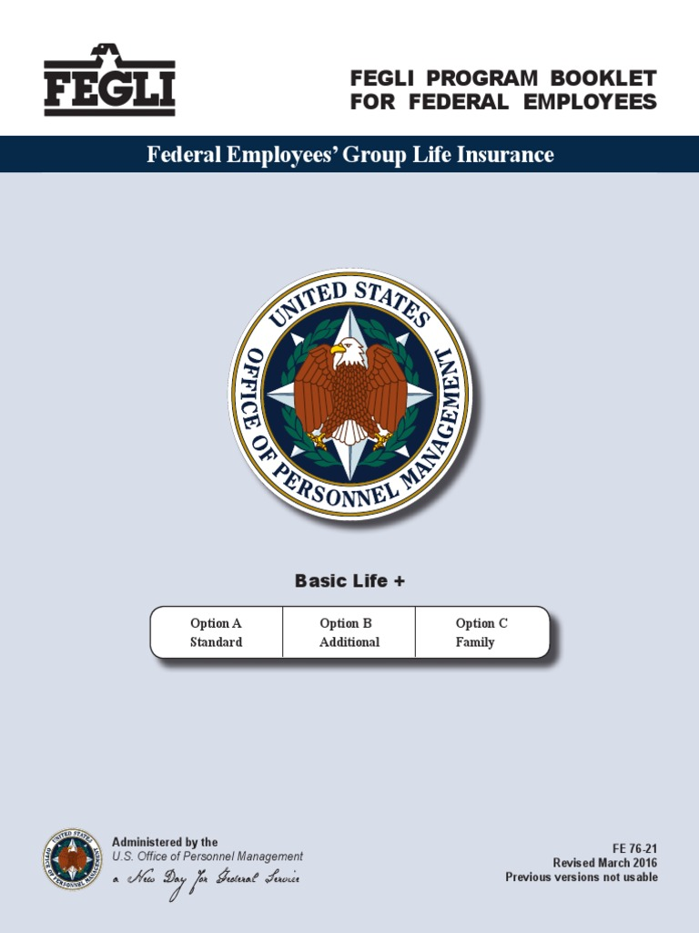 FEGLI Program Booklet for Federal Employees | Life ...