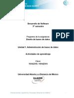 Unidad 1 Actividades de Aprendizaje Ddbd