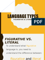 Presentargtion Figurative vs Literal Language