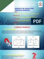 Tratamiento de Aguas Por Osmosis Inversa
