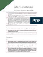 Resumen de recomendaciones Diabetes Tipo II (Guia Salud 2008)