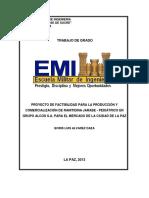 PROYECTO DE FACTIBILIDAD PARA LA PRODUCCIÓN Y COMERCIALIZACIÓN DE RANITIDINA JARABE - PEDIÁTRICO EN GRUPO ALCOS S.A.