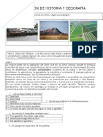 Evaluacion de Geografia Zonas de Chile