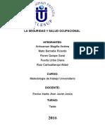 Monografia de Salud y Seguridad Ocupacional
