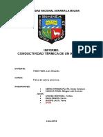 Informe 1.Conductividad Térmica de Un Aislante