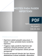 Anestesi Pada Pasien Hipertensi By Hafiz Ibrahim (Powerpoint)